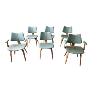 Mid Century Modern Bentwood Chairs by Thonet - Set of 6 For Sale