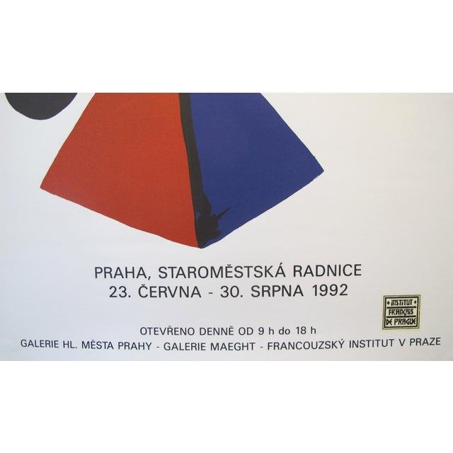 1992 Original Exhibition Poster, Institut Français De Prague - Calder For Sale - Image 6 of 7
