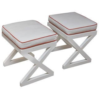 1990s Vintage X-Base Stools - A Pair For Sale