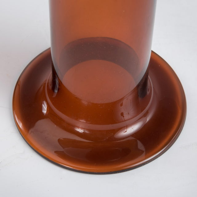 "20"" Otto Brauer Gulvvase Floor Vase Kastrup Holmegaard Denmark Brown Amber Glass Vase Marked 1960s For Sale - Image 11 of 13"