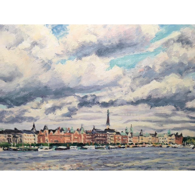 "Traditional ""Old Stockholm"" Oil on Canvas Painting by Thomas Van Stein For Sale - Image 3 of 13"