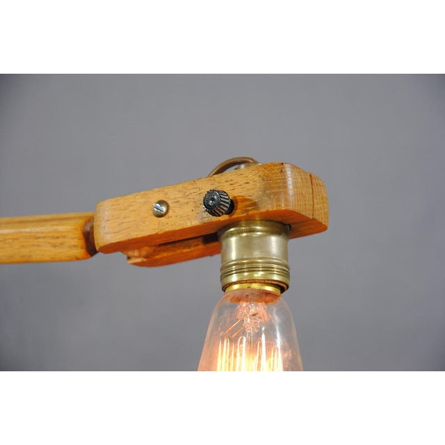 1960s Vintage Industrial Style Articulated Natural Desk Lamp For Sale In San Francisco - Image 6 of 10