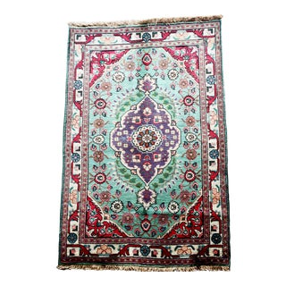 "Persian Vintage Tabriz 3'4"" X 4'10"" Rug For Sale"
