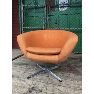 Mid Century Modern Orange Overman Style Club Chair Preview
