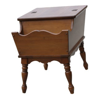 20th Century Traditional Mersman Dough Box Magazine Rack Table For Sale