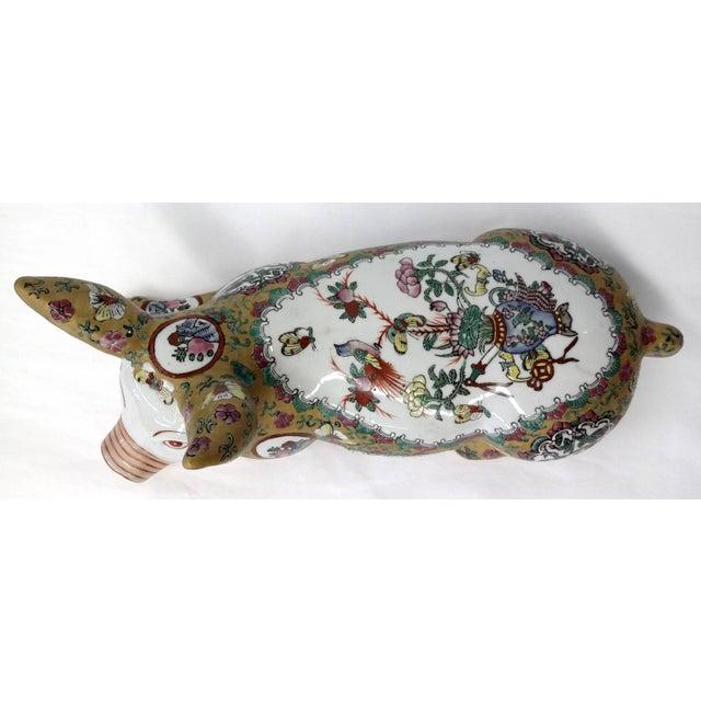 Japanese Meiji Antique Porcelain Pig - Image 6 of 10