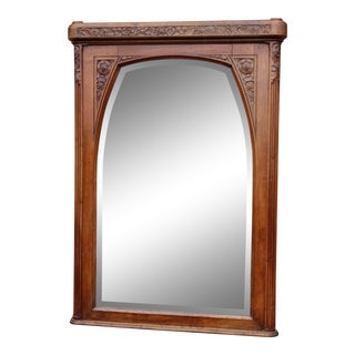 1930s French Art Deco Beveled Wall Mirror For Sale