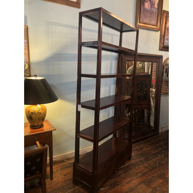 Asian Modern Wood Etagere For Sale - Image 10 of 13