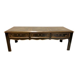 Vintage Chinoiserie Lacquered Coffee Table