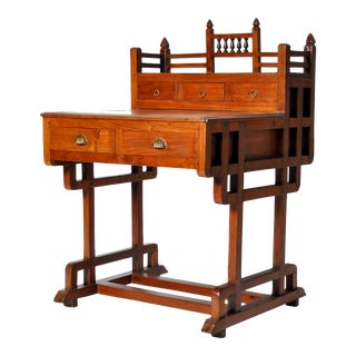 Art Deco Desk with Drawers For Sale