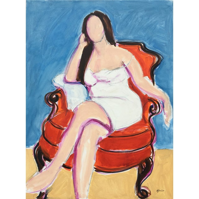 Seated Woman II - Oil Painting For Sale