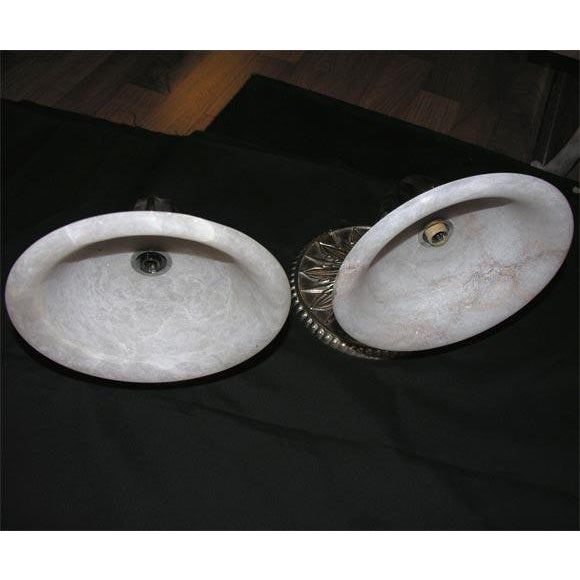 1980s Pair of Modern Deco-Style Wall Sconces For Sale - Image 5 of 6