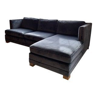 Modern Restoration Hardware Right-Facing Sofa Chaise For Sale