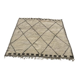 "Moroccan Beni Rug - 7'2"" X 9' For Sale"