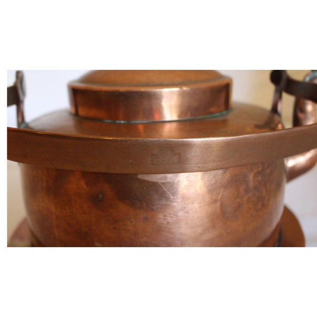 Large Copper Tea Kettle For Sale - Image 4 of 9