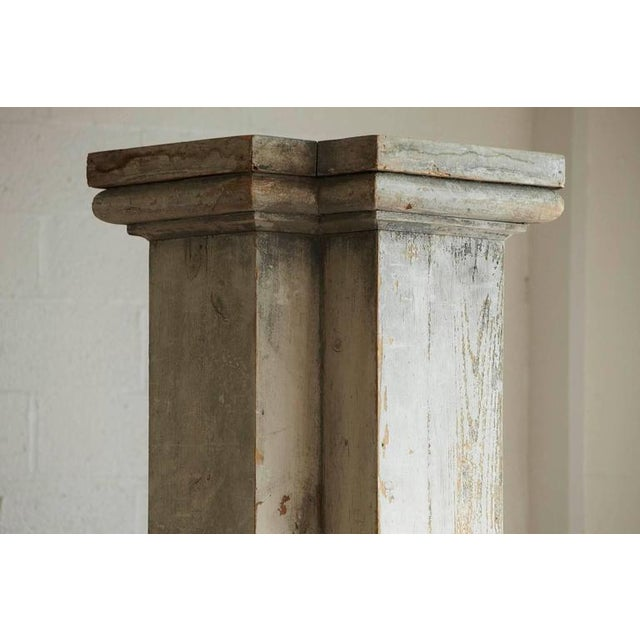 Distressed Tall Wooden Architectural Column with Patina For Sale - Image 4 of 9