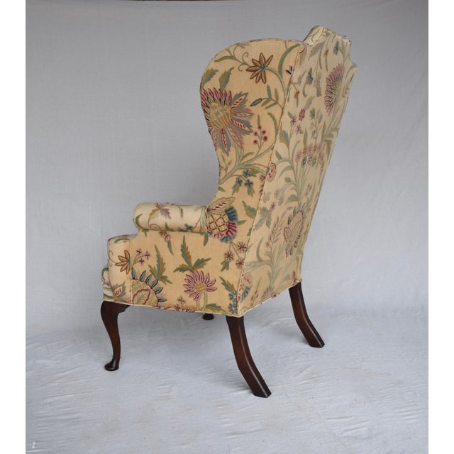 Early 20th Century English Queen Anne Style High Back Library Wingchair, Circa 1910 For Sale - Image 5 of 13