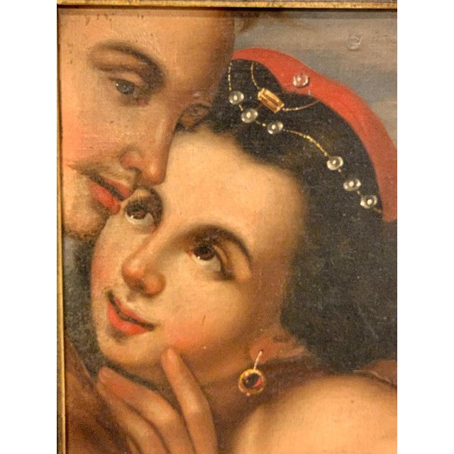 Near Pair of Old Master Romantic Portraits For Sale - Image 9 of 10