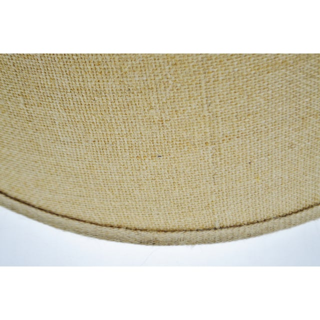 Vintage Grass Cloth Drum lampshade For Sale - Image 9 of 13