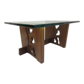 P. Wexter Walnut New Hope School Coffee Table Dated 1978