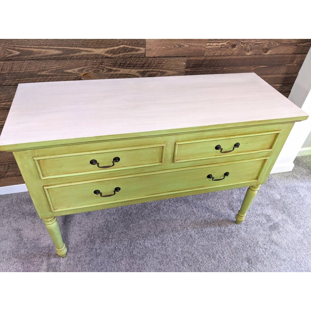 1950s Mid Century Green Chest With Drawers For Sale - Image 4 of 13