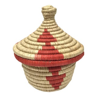 Contemporary Miniature African Basket For Sale