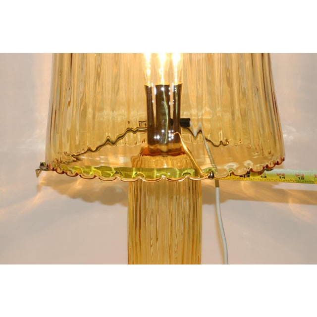 Mid-Century Modern Rare Mid-Century Modern Murano Glass Table Lamp For Sale - Image 3 of 13