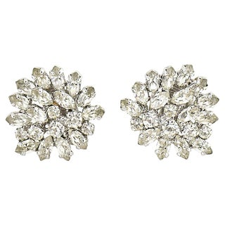 Dior Statement Diamante Earrings For Sale