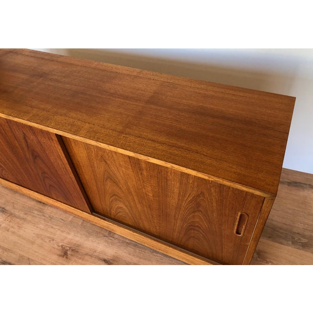 Mid-Century Modern 1960s Paol Hundevad Restored Compact Teak Credenza For Sale - Image 3 of 12