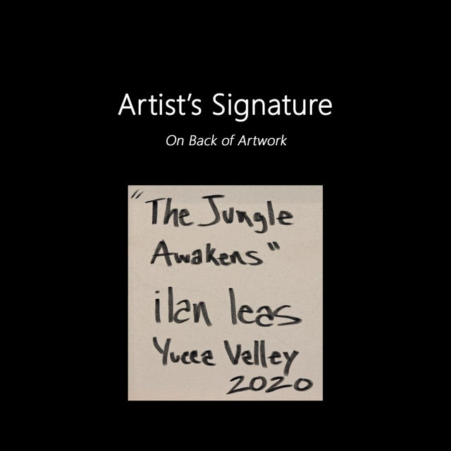 """""""The Jungle Awakens"""" Original Artwork on Canvas by Ilan Leas For Sale - Image 9 of 10"""