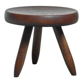 Charlotte Perriand Low Tripod Stool, France, 1950s For Sale