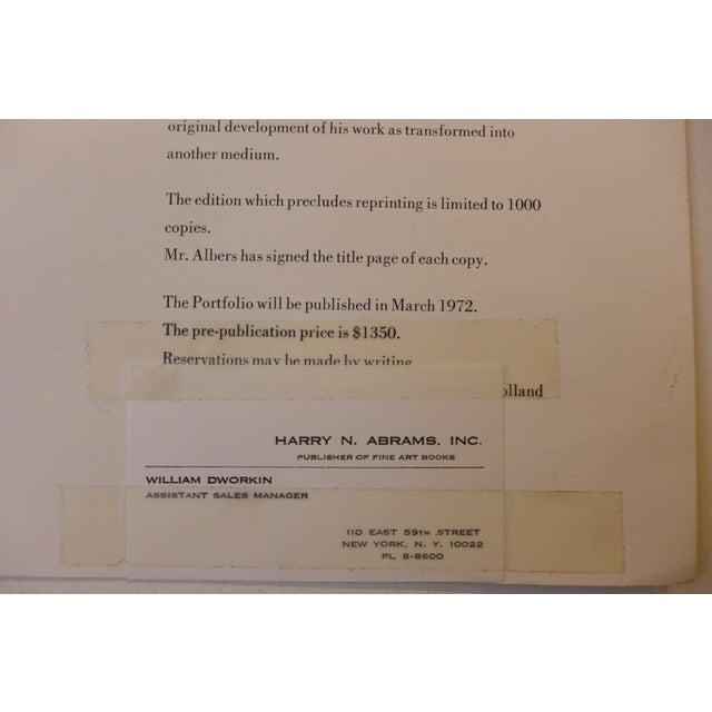 Josef Albers Silkscreen, 1972 For Sale - Image 9 of 9
