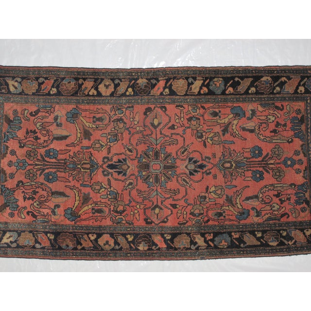 """Islamic Antique Persian Lillihan Wool Rug - 6'6"""" x 3'6"""" For Sale - Image 3 of 4"""