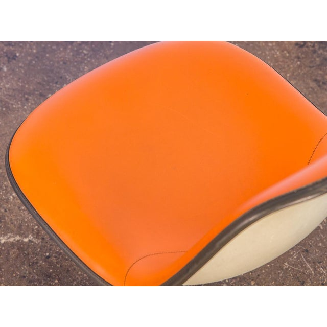 Charles and Ray Eames Orange La Fonda Eames Chair for Herman Miller For Sale - Image 4 of 10