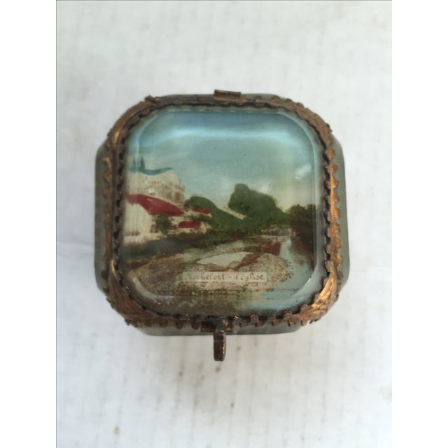 French souvenir ring box. Souvenir of Rochefort, France. A commune in southwestern French a port on the Charente estuary....