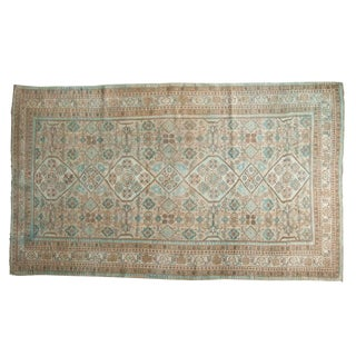 "Vintage Distressed Hamadan Carpet - 5'3"" X 8'11"""