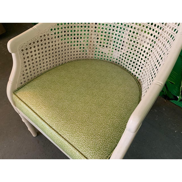 Wood Vintage Cane Back Barrel Chairs, Set of Four For Sale - Image 7 of 9
