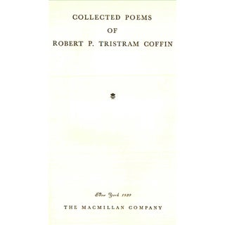 """1939 """"Collected Poems"""" Collectible Book Preview"""