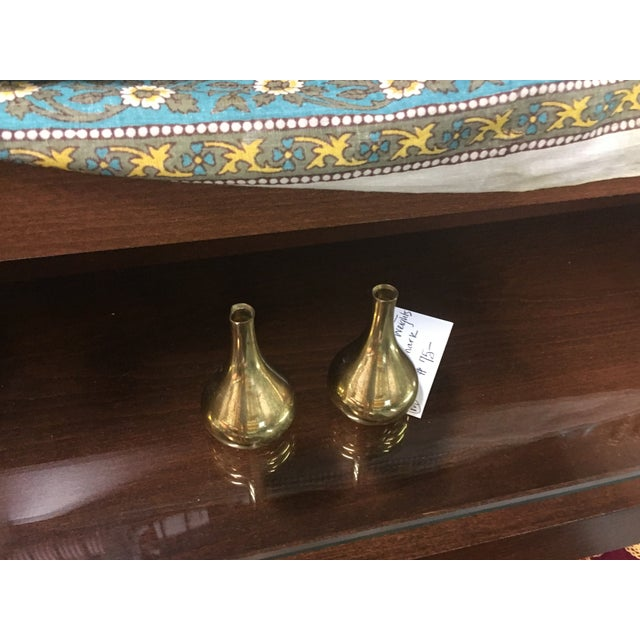 Brass Paperweight Mini Vases - A Pair - Image 5 of 5