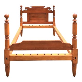 19th Century Maple and Poplar 4 Poster Rope Bedframe For Sale
