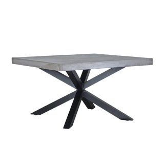 Industrial Concrete & Steel Table For Sale