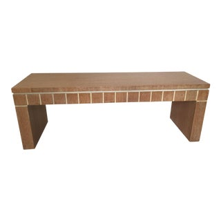 Cerused Finish Oak Bench For Sale