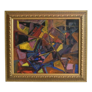 Juan Pepe Guzman Colorful Contemporary Modernist Abstract Painting For Sale