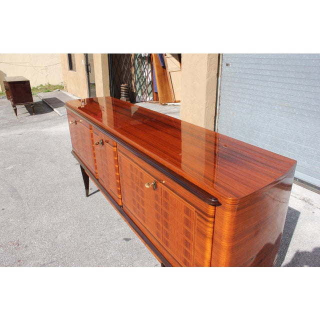 French Art Deco Macassar Ebony Sideboard Credenza For Sale In Miami - Image 6 of 13