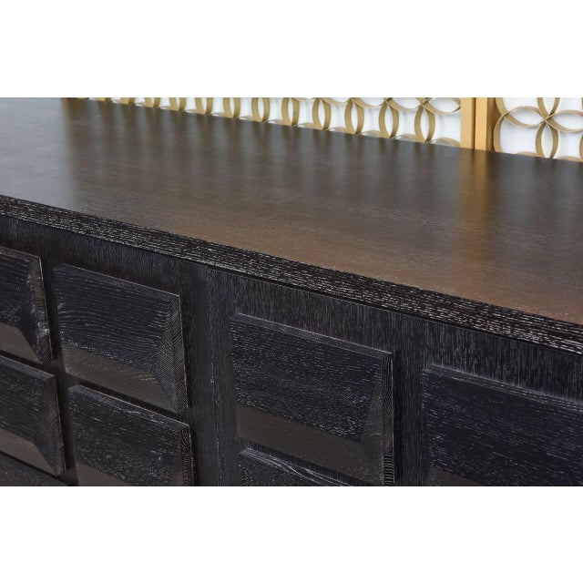 2000 - 2009 Monumental Ebonized Four-Door Credenza or Buffet by Jamie Herzlinger For Sale - Image 5 of 9