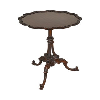 Imperial 1940s Georgian Style Carved Mahogany Pie Crust Table For Sale