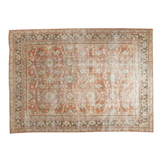 "Vintage Distressed Mahal Carpet - 7'1"" x 10'1"" For Sale"
