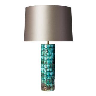 Ceramic Peacock Glaze Lamp For Sale