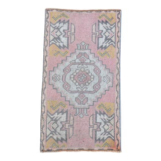 Hand Knotted Door Mat, Entryway Rug, Bath Mat, Kitchen Decor, Small Rug, Turkish Rug - 1′8″ × 2′11″ For Sale