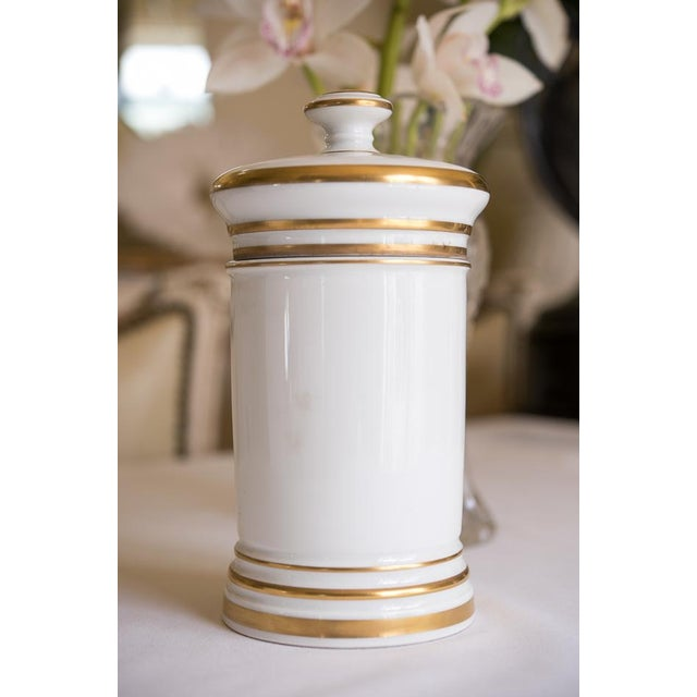 Early 1900s French Porcelain Apothecary Jar - Image 5 of 6